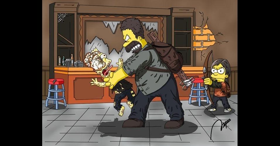 Jogo 'The Last of Us' versão 'Os Simpsons'