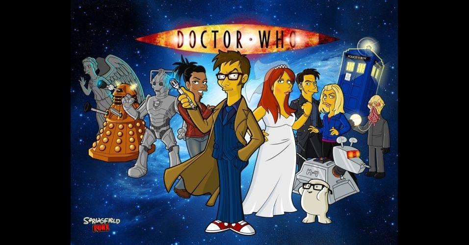 Série 'Dr. Who' versão 'Os Simpsons'