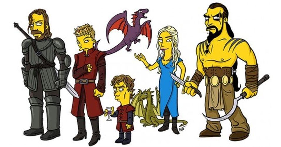 Série 'Game of Thrones' versão 'Os Simpsons'