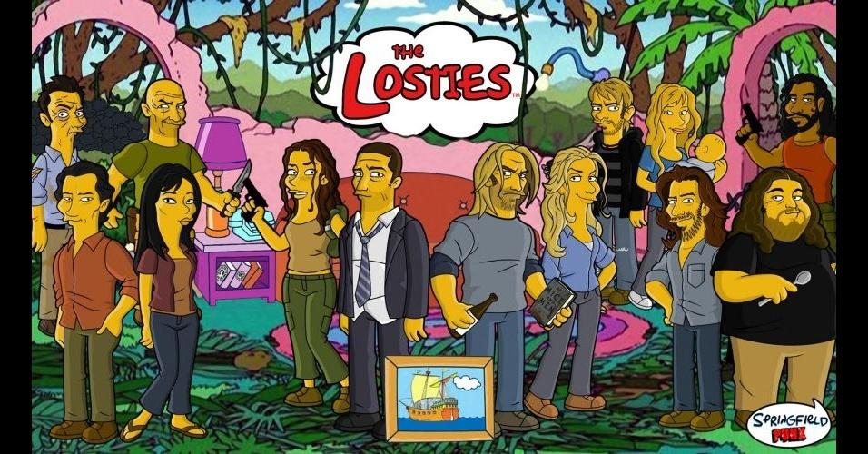 Série 'Lost' versão 'Os Simpsons'