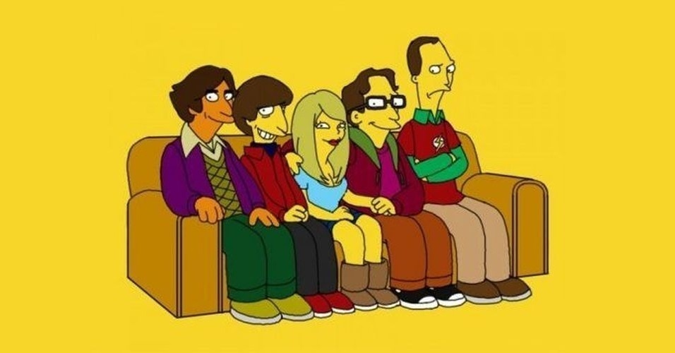 Série 'The Big Bang Theory' versão 'Os Simpsons'