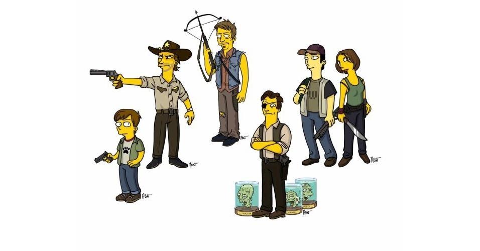 Série 'The Walking Dead' versão 'Os Simpsons'