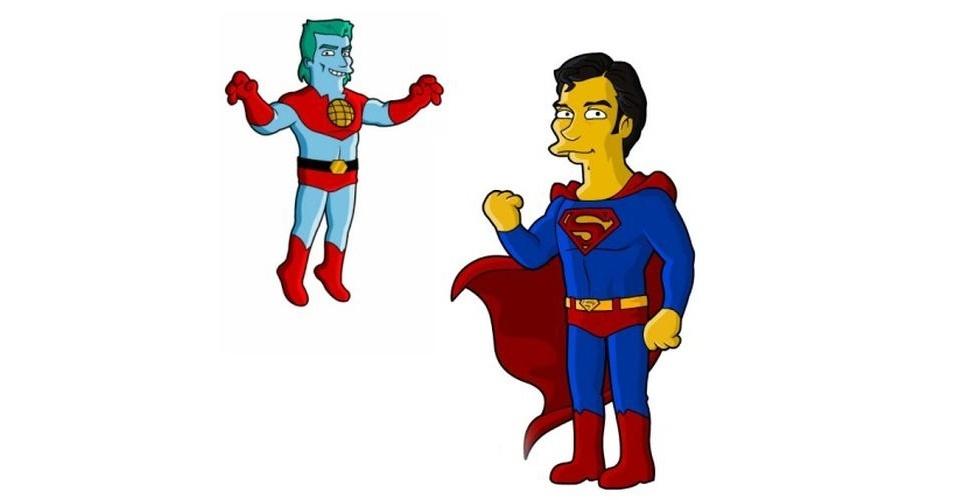Super-heróis versão 'Os Simpsons'