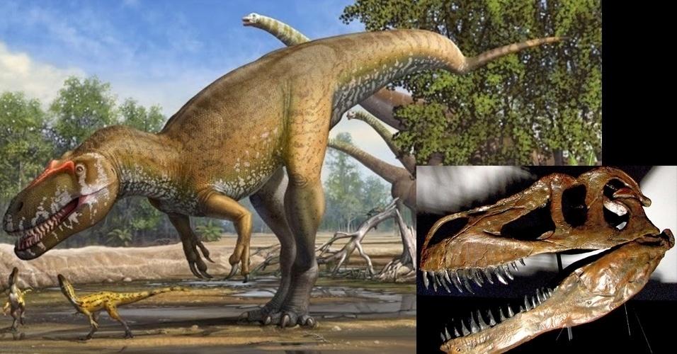 6.mar.2014- Dinossauro português foi o maior predador terrestre da Europa no Jurássico. Pesquisadores da Universidade Nova Lisboa classificaram uma nova espécie de dinossauro que viveu há 150 milhões de anos e o chamaram de