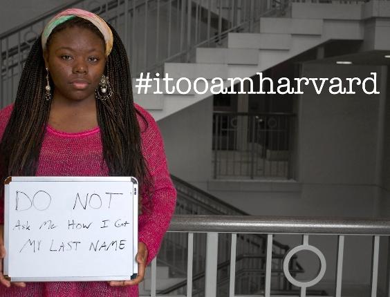 Grupo de estudantes negros lança campanha ?Eu também sou Harvard?, Do not ask me how I got my last name