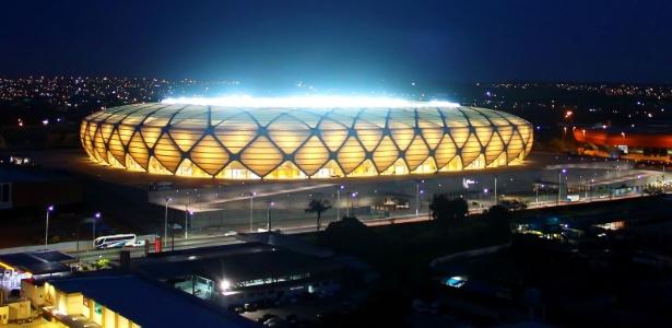 A Arena Amazônia, estádio erguido em Manaus para receber quatro jogos da Copa do Mundo no Brasil