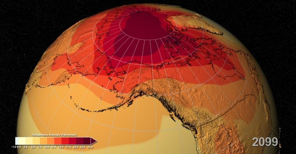 11.mar.2014- Previsão da Nasa (Agência Espacial Norte-Americana) é que o planeta continue a esquentar este século, apesar de a taxa de aquecimento ter diminuído. Segundo o estudo, a Terra deverá experimentar 20% mais calor do que as estimativas que eram baseadas na temperatura da superfície nos últimos 150 anos