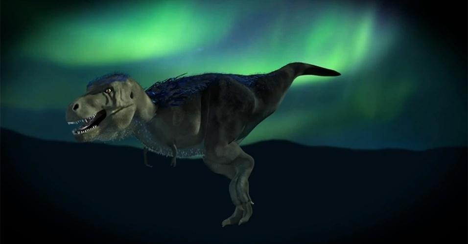 13.mar.2014- TIRANOSSAURO DO ÁRTICO - um novo tiranossauro de 70 milhões de anos foi descoberto no Ártico. Chamado de Nanuqsaurus, ele pode ser o primeiro exemplar de tiranossauro nanico