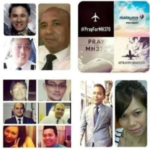 Montagem com fotos de tripulantes do voo MH370, publicada em site - Reprodução/www.sharelor.net/