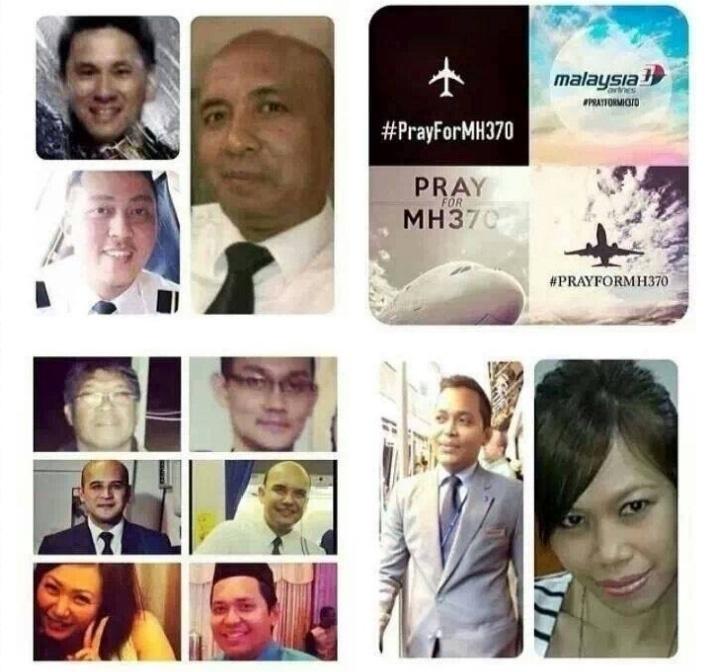 17.mar.2014 - Imagem divulgada em homenagem à tripulação do voo MH370 da companhia aérea Malaysia Airlines, que está desaparecido desde o dia 8 de março