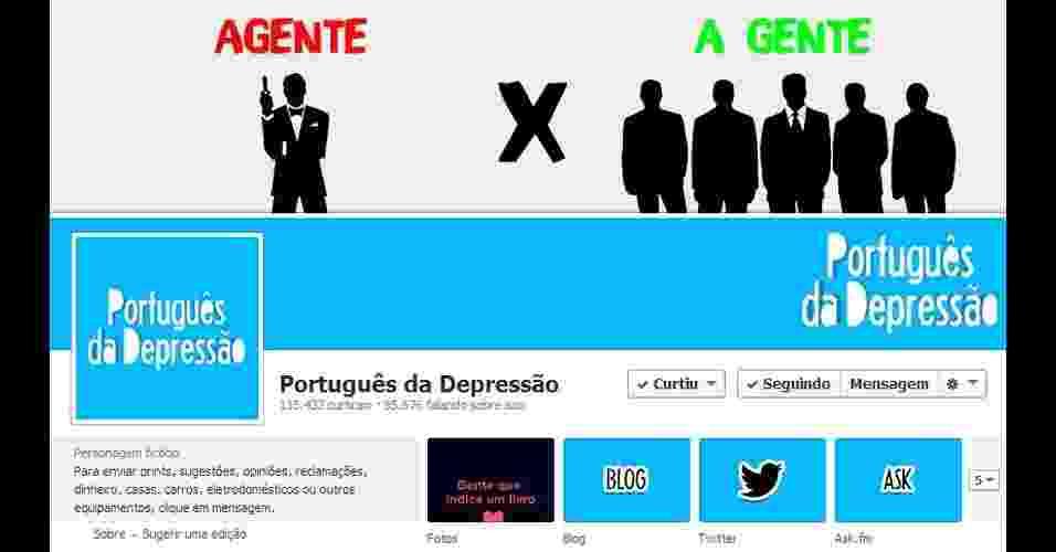 Português da Depressão - Reprodução/Português da Depressão