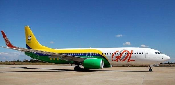 Avião da Gol que foi usado para transporte da seleção brasileira na Copa de 2014 - Divulgação