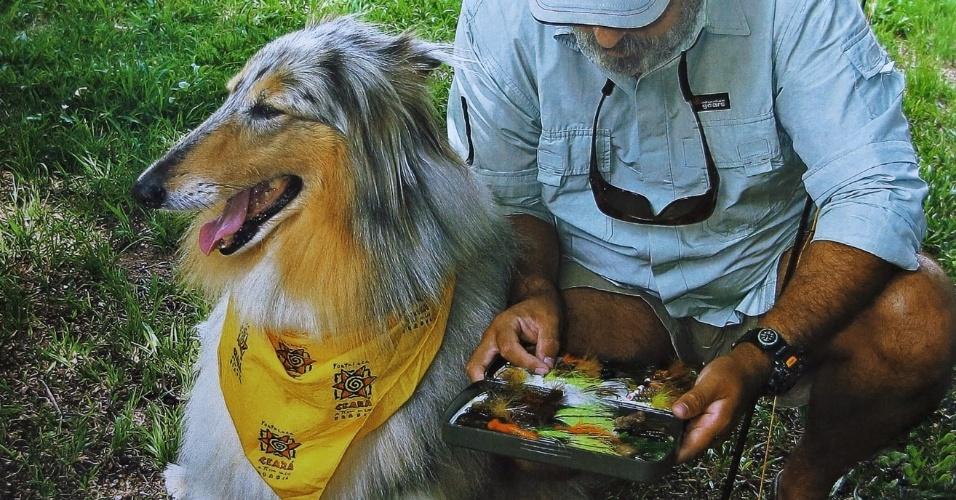 Fly, a cadela que acompanhava Ruy Varella nas pescarias, morreu há 4 anos. Era da raça collie e sempre que o via mexer nos equipamentos de pesca, se preparava perto do carro para acompanhá-lo no passeio