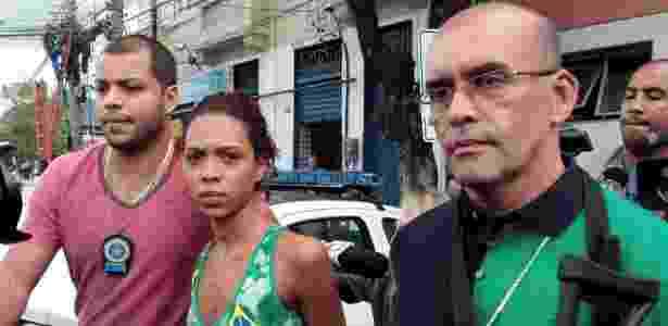 Ingrid de Carvalho Cristino, 20, presa em flagrante na noite de terça-feira (25) suspeita de matar um bebê de sete meses  - Bruno Gonzalez/Agência O Globo