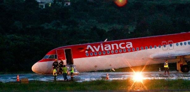 Aeronave da Avianca pousou de barriga em Brasília nesta sexta
