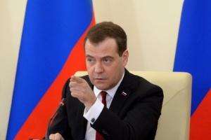 O primeiro-ministro russo, Dmitri Medvedev