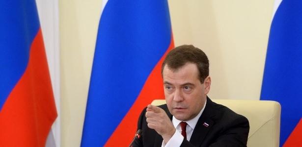 O primeiro-ministro da Rússia, Dmitri Medvedev