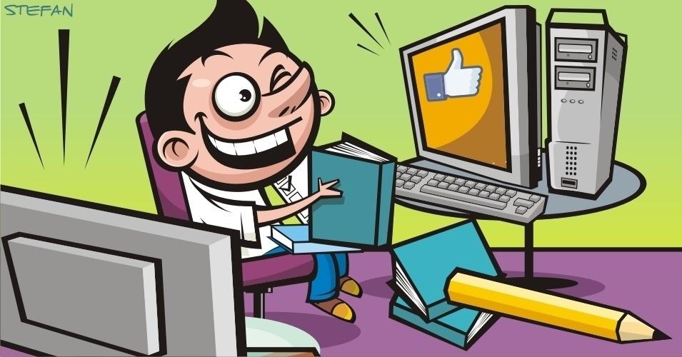 Criança não deve fazer a lição com a TV ou o computador ligado (VERDADE)