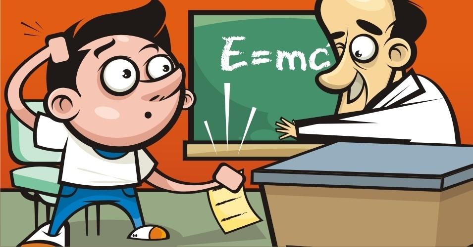 A lição não pode ser entregue com erros para o professor (MITO)