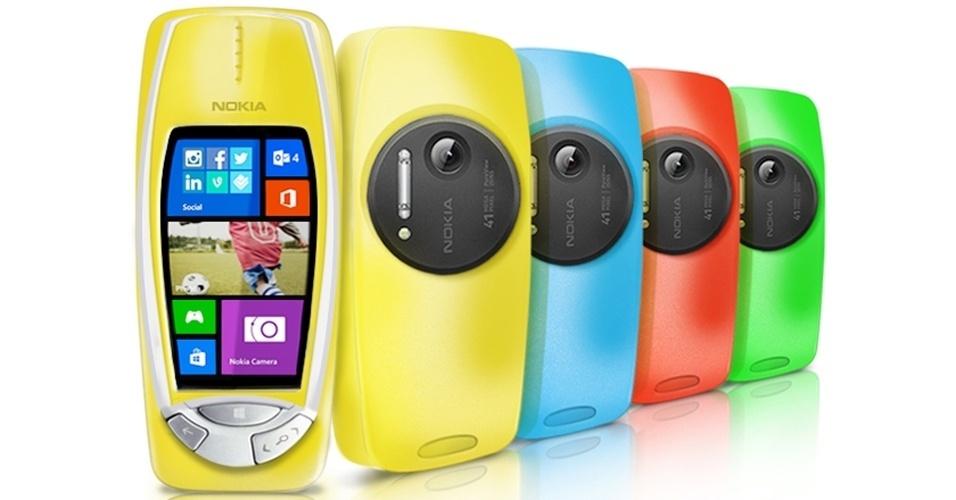 2014 - Considerado indestrutível, o Nokia 3310 (que oferecia o jogo da cobrinha) ganhará uma nova versão ? o falso anúncio foi feito pela fabricante no dia da mentira (http://zip.net/bsmZjD). O modelo atualizado conta com câmera de 41 megapixels e flash de xênon. As falsas configurações incluem Windows Phone 8, processador dual-core de 1,5 GHz, 2 GB de RAM e armazenamento interno de 32 GB