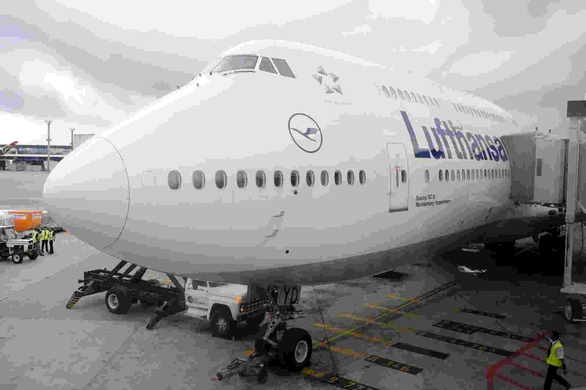 Boeing 747-8 Intercontinental, usado pela Lufthansa em voos diários entre São Paulo e Frankfurt, na Alemanha - Junior Lago/UOL