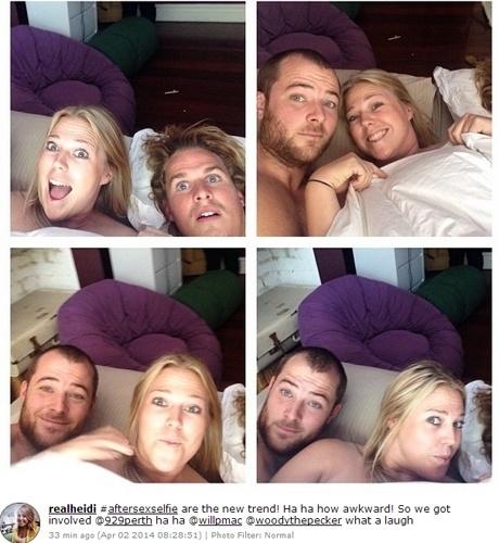 Usuários do Instagram começaram a publicar autorretratos supostamente registrados depois do sexo: as hashtags que identificam essas imagens são 'aftersex' e 'aftersexselfie'. A superexposição também deu origem a brincadeiras, como 'selfies' em que brinquedos e animais de estimação parecem ter feito sexo segundos antes do clique