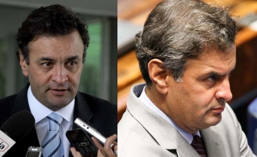 3.abr.2014 - O senador Aécio Neves (PSDB-MG), faz parte do grupo de políticos que já recorreu ao implante de cabelo para dar mais volume aos fios. Na fotografia do lado esquerdo, é possível ver como era seu cabelo antes da implantação, e na imagem da direita, como ele ficou após o procedimento