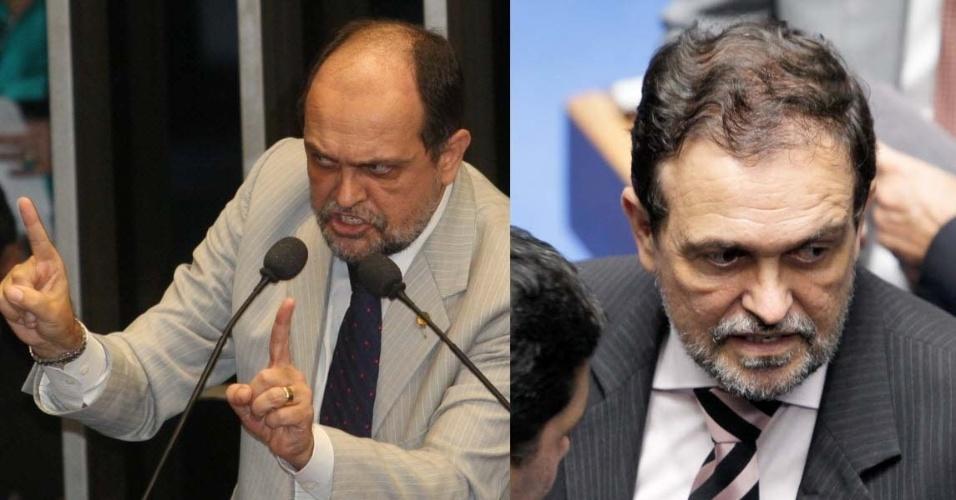 3.abr.2014 - O senador Walter Pinheiro (PT-BA), faz parte do grupo de políticos que já recorreu ao implante de cabelo para dar mais volume aos fios. Na fotografia do lado esquerdo, é possível ver como era seu cabelo antes da implantação, e na imagem da direita, como ele ficou após o procedimento