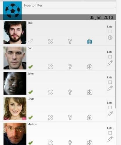 Attendance Tracker, aplicativo para o professor