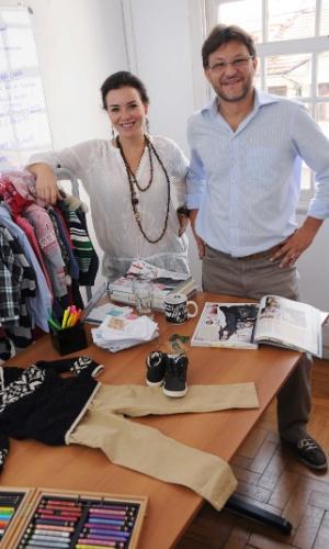 Os empresários Mariana Guazzelli e Renato Pereira, sócios do site de roupas de grife para bebês Bebê Boutique