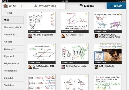 ShowMe Interactive Whiteboard, aplicativo para o professor