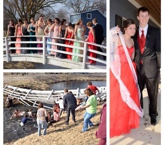 Foto de formatura de adolescentes de Nebraska (EUA) vira viral na internet por causa do registro de queda dos formandos; mais de 60 mil retuítes até 10/04/2014, 12h30