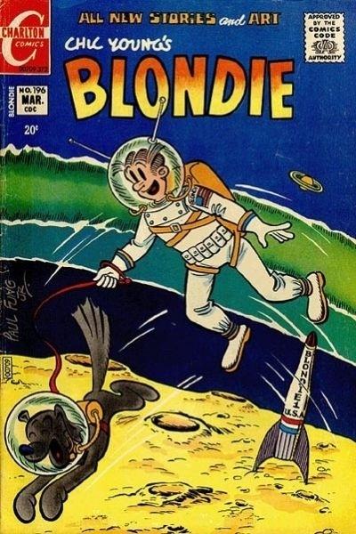 """11.abr.2014 - O HQ """"Blondie"""" de 1930 já mostrava cenas fora do planeta Terra"""