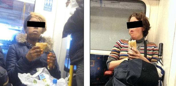 "Fotos divulgadas (mas sem as tarjas) no grupo ""Women Who Eat On Tubes"""