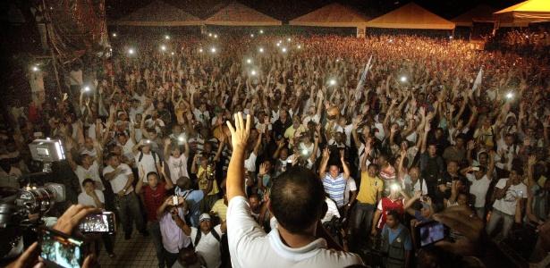 Em assembleia realizada nesta terça-feira (15), os policiais militares da Bahia decidiram entrar em greve - Edson Ruiz/COOFIAV/Agência O Globo