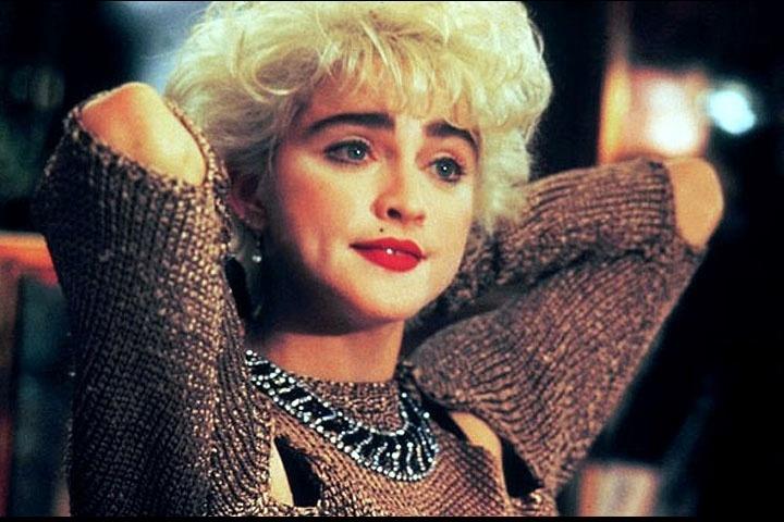 """A cantora Madonna em cena do filme """"Quem é essa garota?"""", lançado em 1987"""
