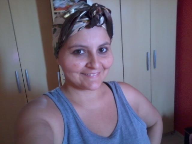 Foto de Patricia Ananda, 30 anos, enviada para o 'Você Manda' de histórias sobre câncer