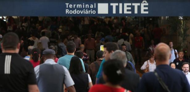 A Rodoviária do Tietê, em São Paulo, irá receber grande fluxo de passageiros durante a Copa