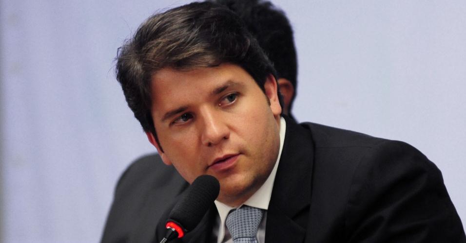30.out.2012 - deputado Luiz Argôlo, então no PP, em audiência na Câmara