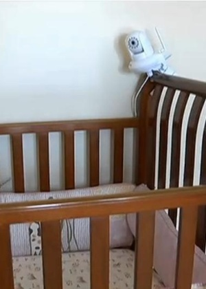 Câmera de babá eletrônica foi invadida, em Cincinnati, nos Estados Unidos - Reprodução/Fox19