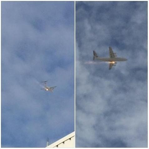 29.abr.2014 - O motor de um avião pegou fogo no ar, no oeste da Austrália, enquanto transportava 97 passageiros nesta terça-feira (29). O piloto foi obrigado a fazer um pouso de emergência, mas ninguém ficou ferido. O voo decolou do aeroporto de Perth e tinha como destino Barrow Island, mas acabou retornando a Perth