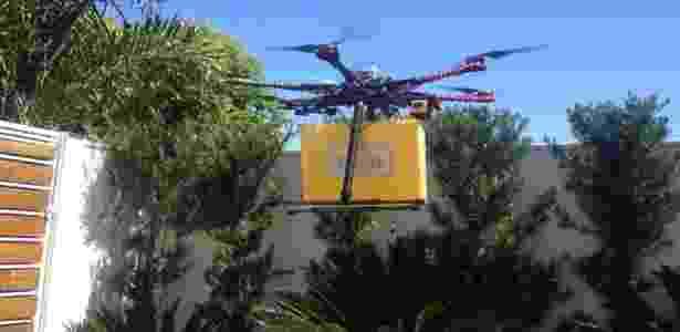 """Franquia Pão To Go, rede de padaria drive-thru, faz testes para implantar sistema de entrega com """"drones"""" - Divulgação"""