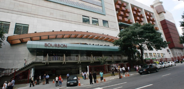 Fachada do shopping Bourbon, na Pompeia, zona oeste de São Paulo
