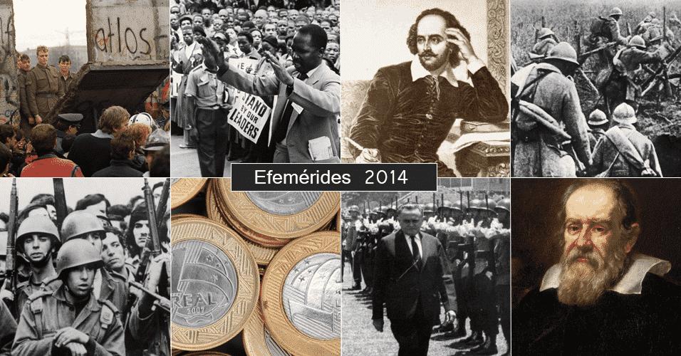 Efemérides 2014 - Arte/UOL