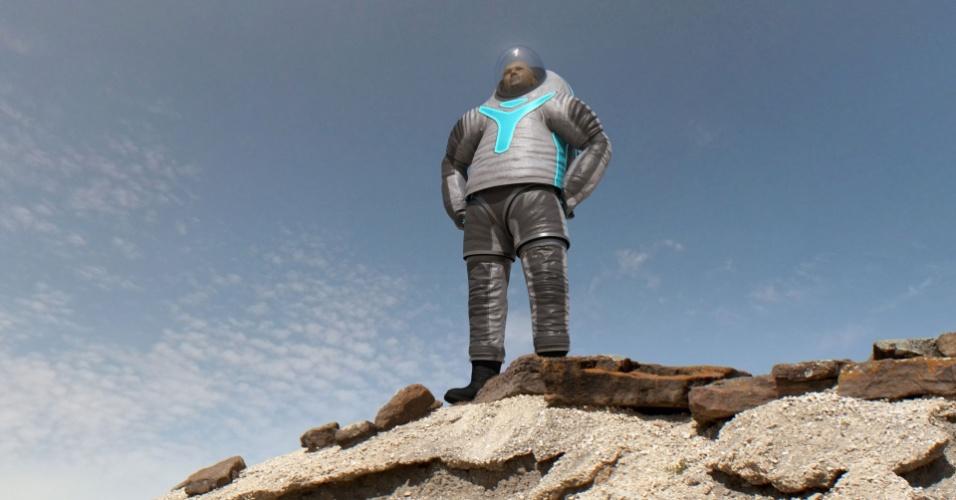 2.mai.2014 - Nasa apresenta protótipo de roupa espacial para viagem a Marte