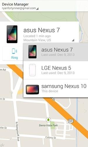 """Gerenciador de dispositivos Android (Android/gratuito). Desenvolvido pelo Google, o aplicativo permite localizar um aparelho Android a partir da versão 2.3. Para ativá-lo, é preciso em ir em """"Aplicativos"""" > Configurações do Google > Local e marcar a opção """"Localização"""""""
