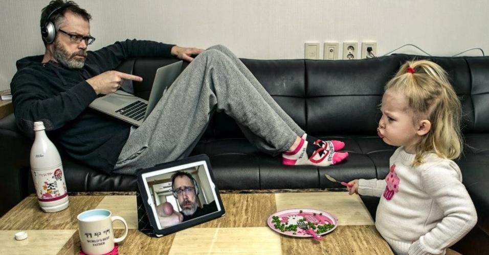 7.mai.2014 - O projeto surgiu também como uma ideia de entreter a família e amigos com fotos engraçadas