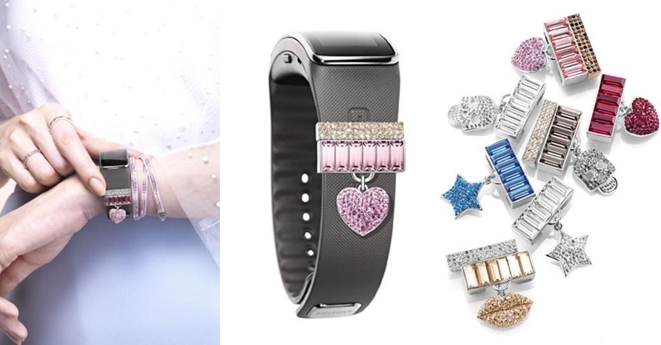 A marca de cristais Swarovski desenvolveu diversos acessórios para  eletrônicos da marca Samsung. O smartphone 15caacb164