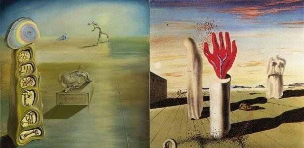 13.mai.2014 - A Fundação Gala-Salvador Dalí anunciou nesta terça-feira (13) a identificação de duas obras com paisagens oníricas pintadas pelo gênio surrealista em 1930. As obras não tinham suas autorias confirmadas até então - AFP