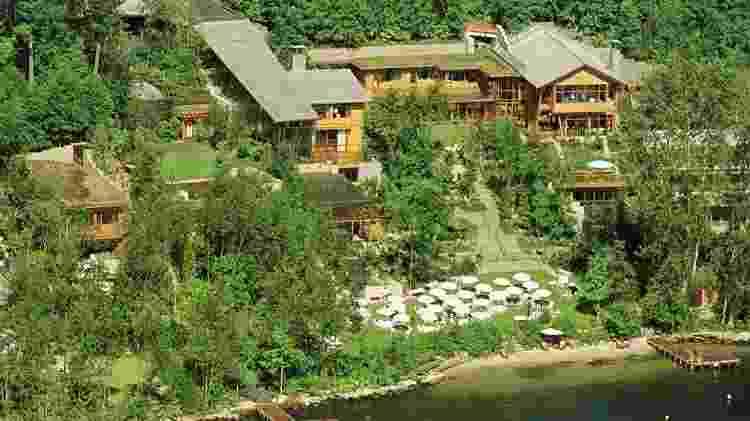Vista aérea da mansão do presidente da Microsoft, Bill Gates - Reuters - Reuters